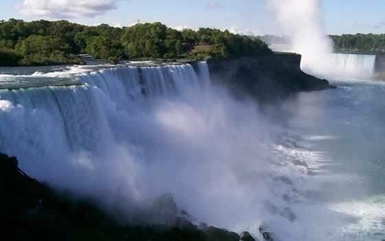 водопад, niagara, река, фото, пасть, colorful, сша, коллекция, ну