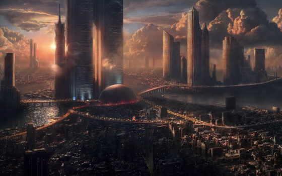 город, futuristic, art, sci, будущее, fantasy, architecture, images,