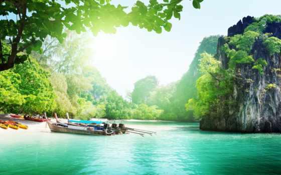 природа, thai, симиланские, острова, таиланд, море, небо, озеро, oblaka, страница, которых,