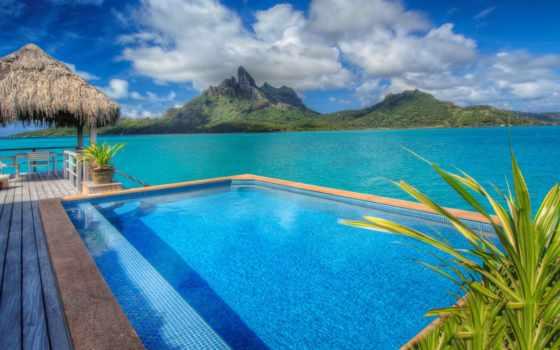 bora, regis, resort, hotel, lagoon, french, blue,