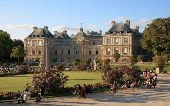 дворец, luxembourg, париж, rub, интерьер, парижа, франция, garden,