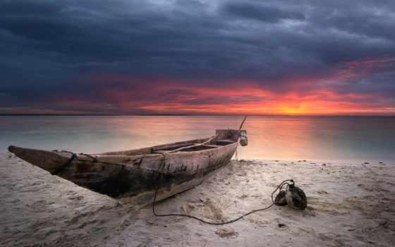 playa, canoa, fondos, naturaleza, playas, madera, pantalla, fondo,