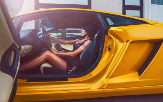 lamborghini, black, yellow, chemical, surf, taras, взгляд, lagu, play,