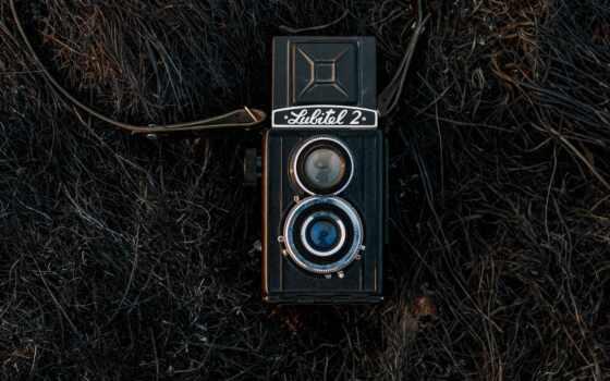 ретро, фотоаппарат, телефон