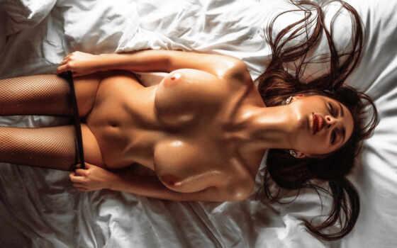 биг, boobs, нефть, чулок, эротический, black, brunette, sexy, девушка, eroic, обнаженная