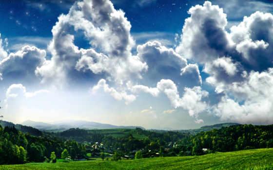 облака, природа