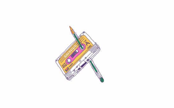 касета, карандаш
