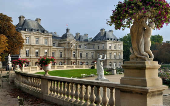 достопримечательности, дворец, достопримечательностей, посещение, luxembourg,