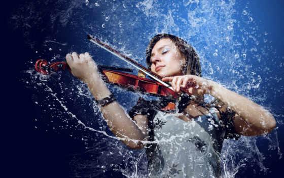 скрипке, девушка, game, играет, скрипка,