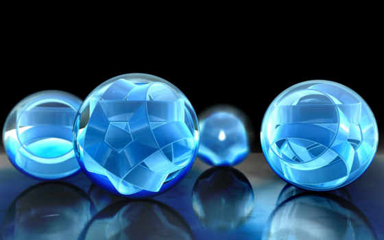 шары, отражение