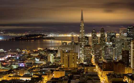 сан, francisco, ночь, san, california, город, neighborhood,