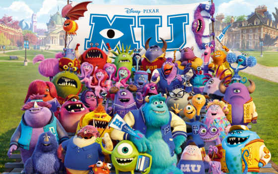 monsters, university, монстров