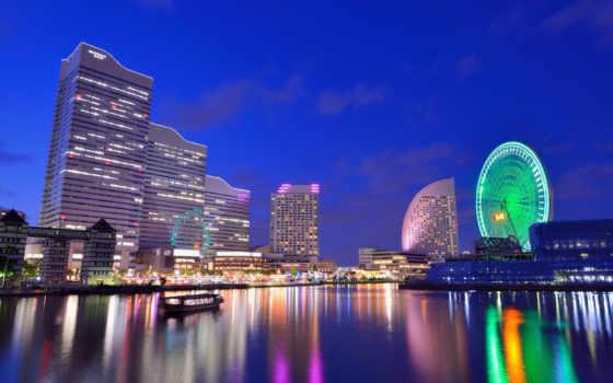 yokohama, япония, japanese, мегаполис, город, kanagawa, elevation, префектура, дома, ши,