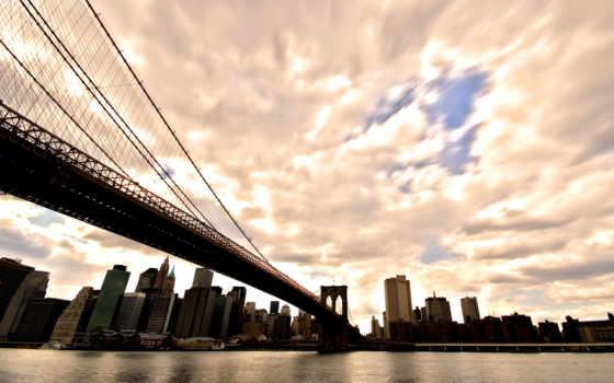 мост, заставки, бруклин, фоны, full, телефон, города, мосты,