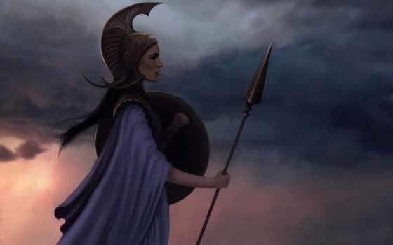 athena, epic, fantastic, new, myth, greek, goddess, старинный, девушка