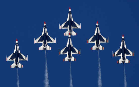 самолёт, летит, небо, авиация, лайнер, thunderbirds, fighting, falcon, картинка, aircrafts, самолеты,