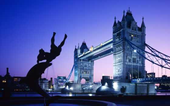 мост, londone, башня