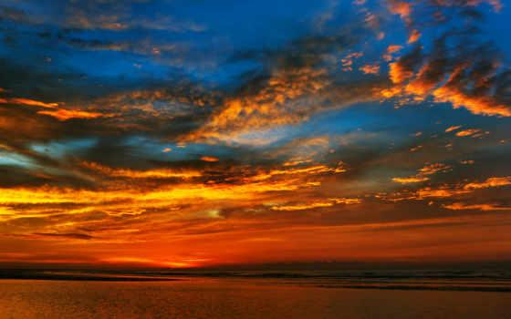 paisajes, naturaleza, amanecer, rojo, мар, desktop, free, fondos, rio,
