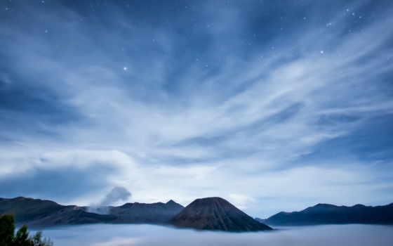 небо, звезды, ночь, остров, oblaka, youtube, заставки, только, красивые,