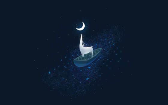 луна, half, магия, dark, лань, star, surreal
