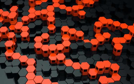 hexagons,