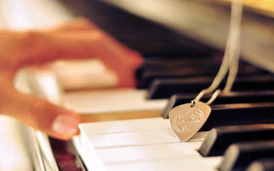 клавиши, медальон, знак, рука, аккорд,
