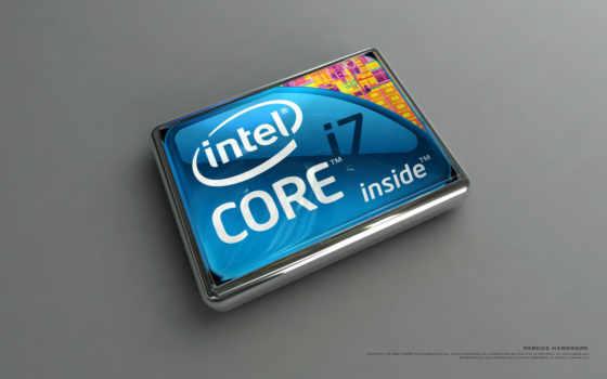intel core i7 лого объёмное прямоугольное