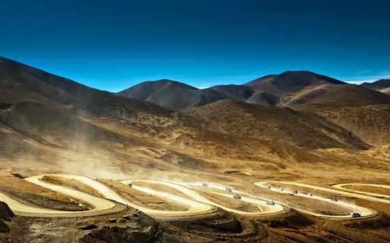 горы, tibet, китай