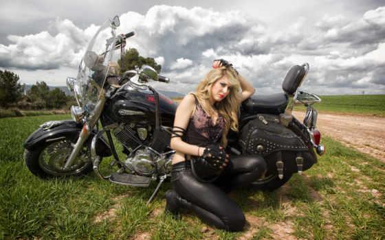 девушка, motorbikes, мотоциклы