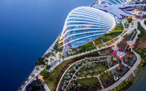 bay, singapore, город