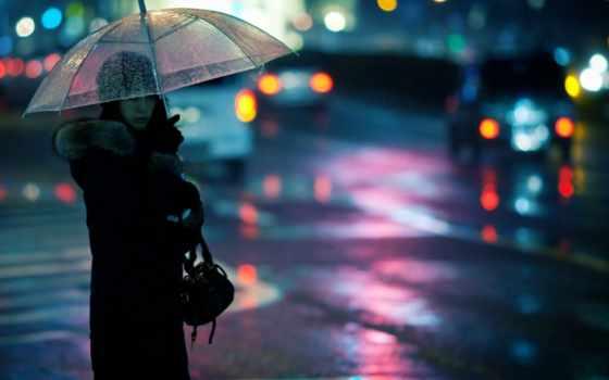 девушка, вечер, город, зонтик, картинка, сзади, left, you, wattpad,