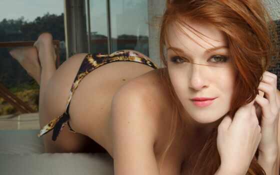 leanna, decker, рыжая, фотомодель, взгляд, губы, глаза, сексуальная, девушки, картинка,