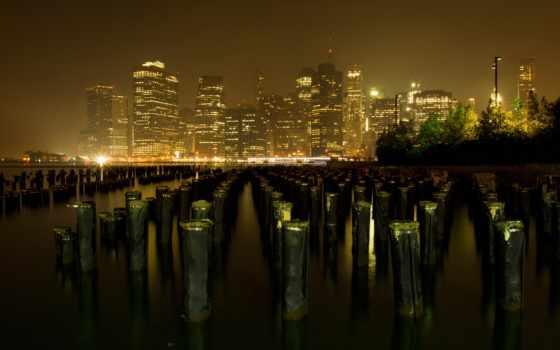 город, york, skyline