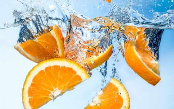 дольки, оранжевый, water