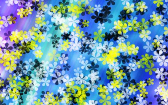 абстракции, цветочки, белые, желтые, страница, абстракция, рисунки,