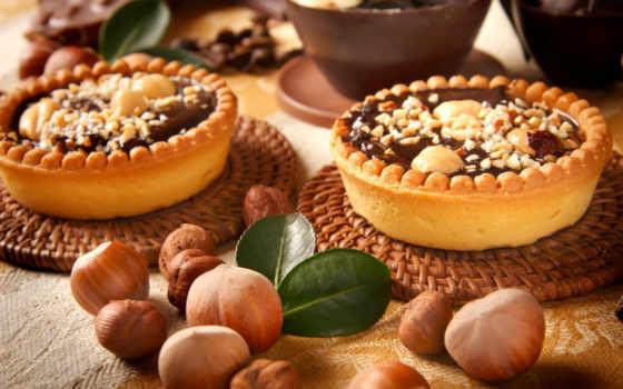 bolos, chocolate, floresta, bolo, sobremesa, cartaz, doces, parede, nozes, alimentos, tecido,