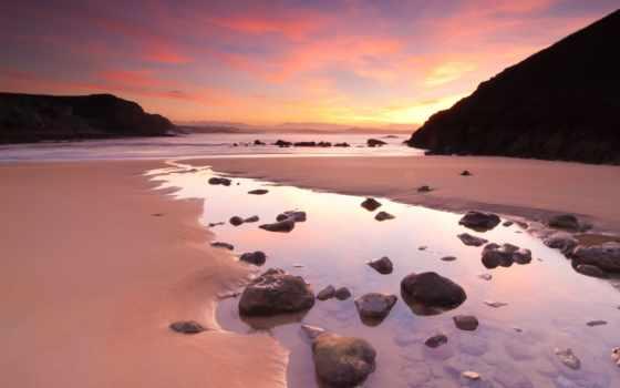 розовый, пляж, bahamas, песок, beaches, sands, гавань, остров,