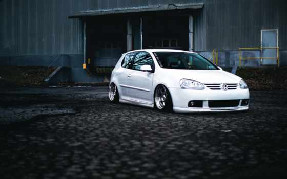 car, golf, white
