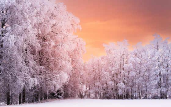 небо, winter, снег, mountains, страница, desktop, закат, triadafillos, норвегия,