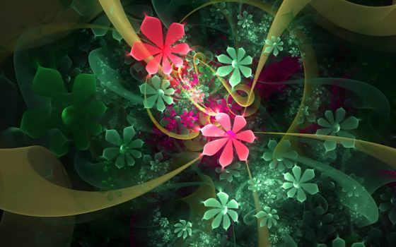 cvety, абстракция, абстракции, fractal, разноцветных, открыть, линии, красивая, коллекция,