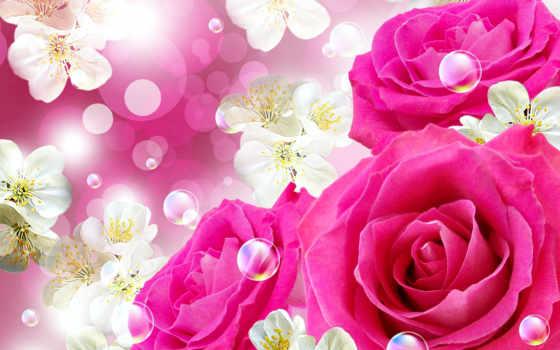 рождения, открытки, днем, анимационные, красивые, cvety, gif, блестящие, postcard, женщине,