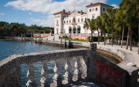 vizcaya, and, museum, gardens, villa, florida, mia