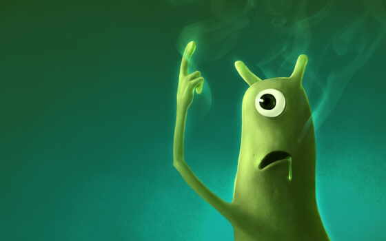 инопланетянин, автор, зелёный