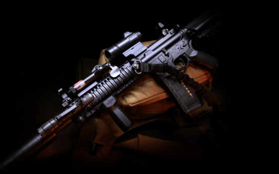 , оружие, m4, carbine, assault, rifle, gun,