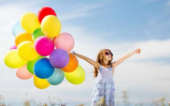 balloons, stock, colorful, девушка, happy,