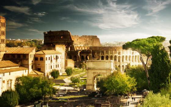 дома, architecture, колизей, риме, italian, rom, forum, города, guide,