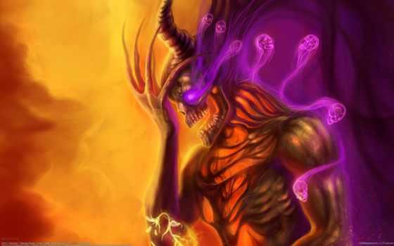 сатана, череп, dark, злой, art, ужас, демон, магия,