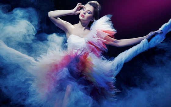 платье, девушка, hairstyle, краски, дым, причал, devushki, категории,