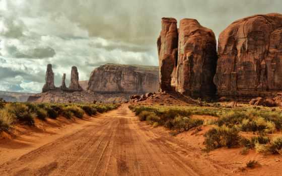 дорога, arizona, долина