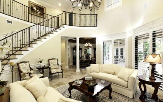 салон, biały, dom